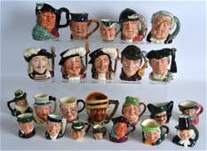 A LARGE COLLECTION OF ROYAL DOULTON AND OTHER MINIATURE