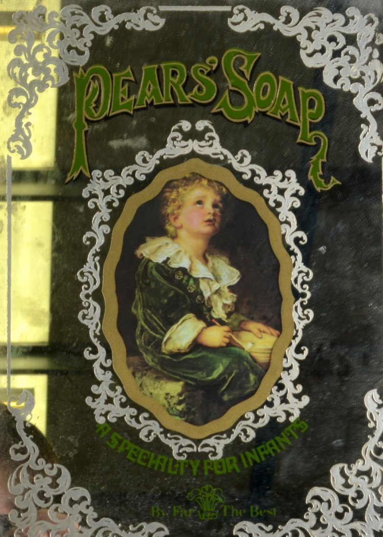 A VINTAGE PEARS SOAP ADVERTISING MIRROR together with a - 2