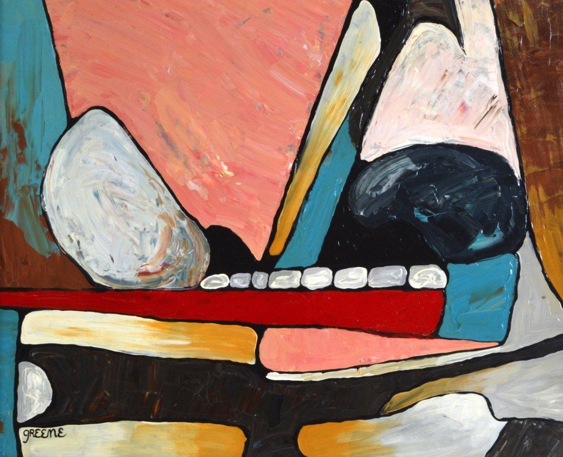 Stephen Greene (Born 1917) Oil on board, 'Semi