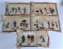 Chinese School 19th Century A set of nine pith paper