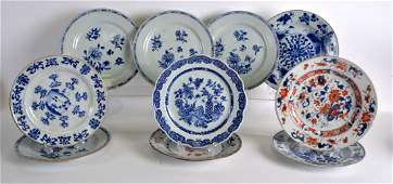 A SET OF TEN 18TH CENTURY CHINESE EXPORT PORCELAIN