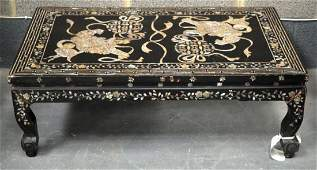 AN EARLY 20TH CENTURY CHINESE MOTHER OF PEARL INLAID