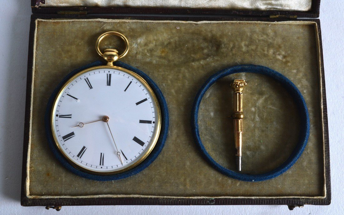 A MID 19TH CENTURY FRENCH 18CT YELLOW GOLD GENTLEMANS