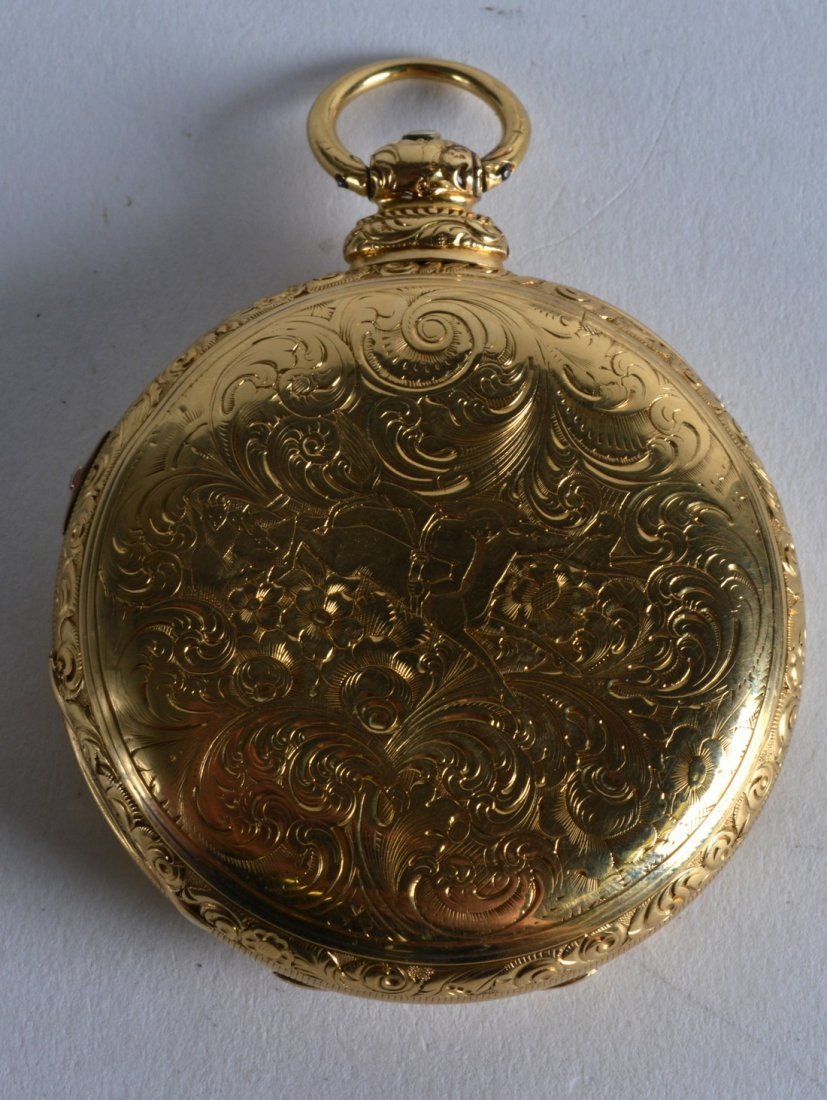 A FINE MID 19TH CENTURY 18CT YELLOW GOLD GENTLEMANS