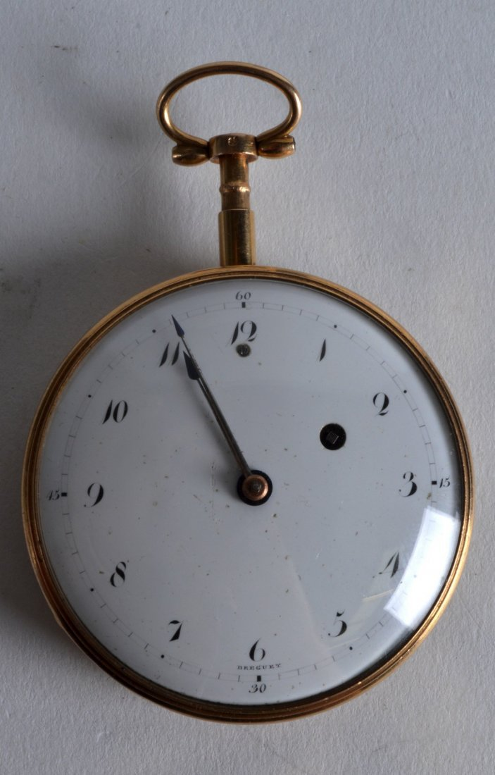 A 19TH CENTURY FRENCH 18CT YELLOW GOLD POCKET WATCH the