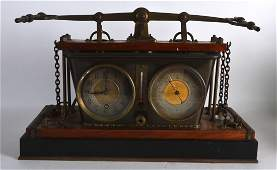 A RARE 19TH CENTURY FRENCH INDUSTRIAL CLOCK AND
