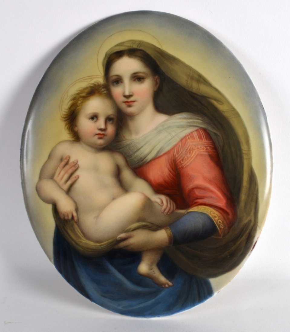 A LATE 19TH CENTURY KPM PORCELAIN PLAQUE painted with