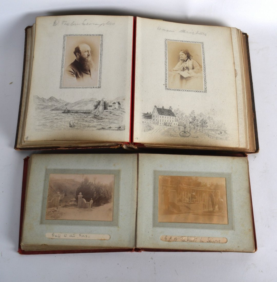 TWO PHOTOGRAPH ALBUMS (1900-1902), scenes of Asia and - 2