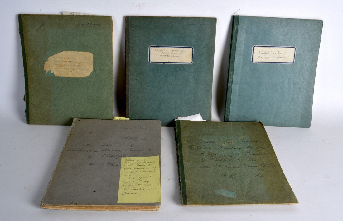 GROUP OF FIVE NOTEBOOKS CIRCA 1875, Letters from