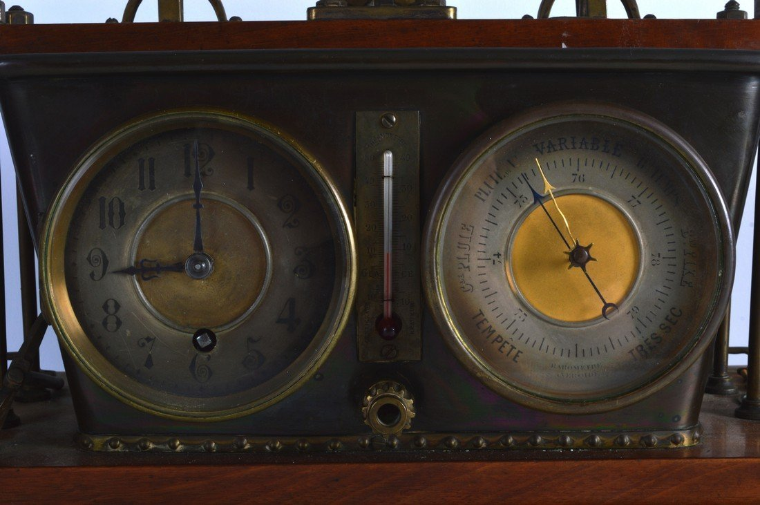 A RARE 19TH CENTURY FRENCH INDUSTRIAL CLOCK AND - 2