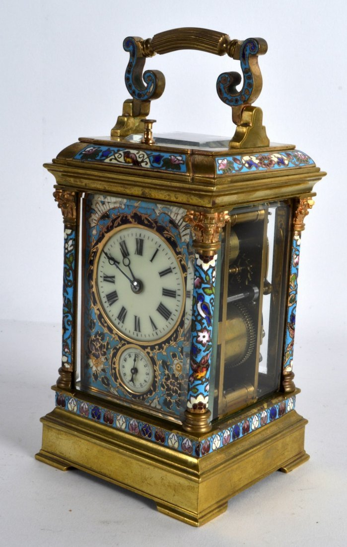 A SUPERB 19TH CENTURY FRENCH CHAMPLEVE ENAMEL CARRIAGE