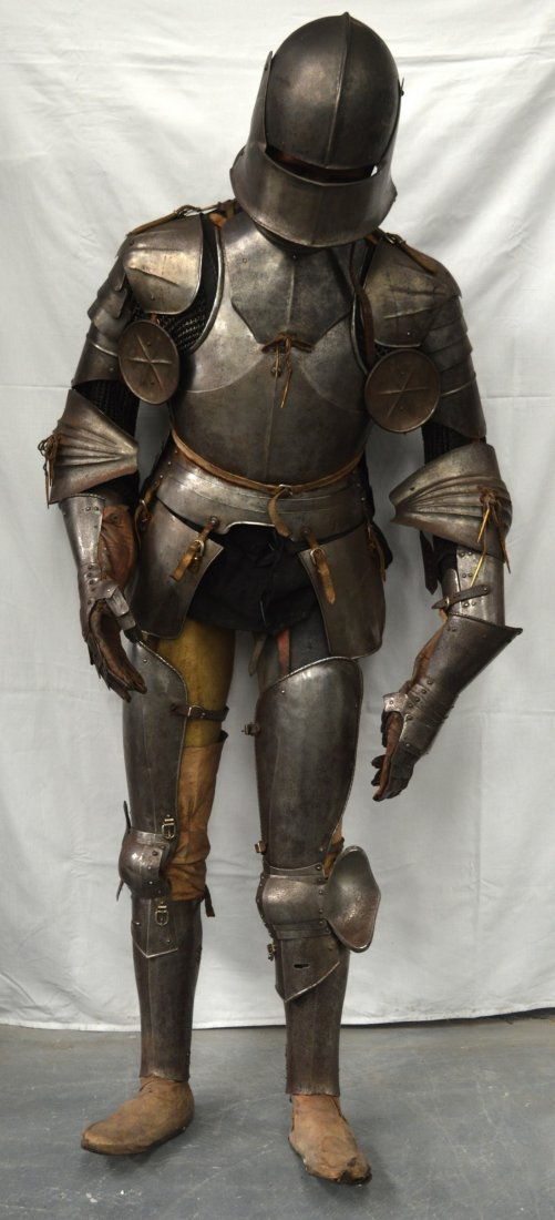 A LOVELY LATE VICTORIAN SUIT OF ARMOUR contained upon a - 2