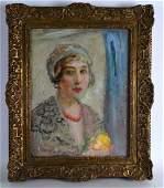 Florence Engelbach 18721951 British Framed oil on