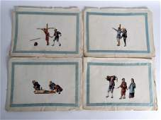 Chinese School 19th Century Pith paper Torture