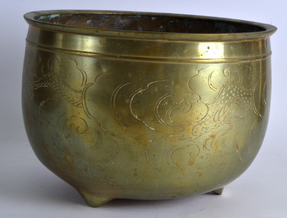 A LATE 19TH CENTURY CHINESE CIRCULAR BRONZE CENSER - 2