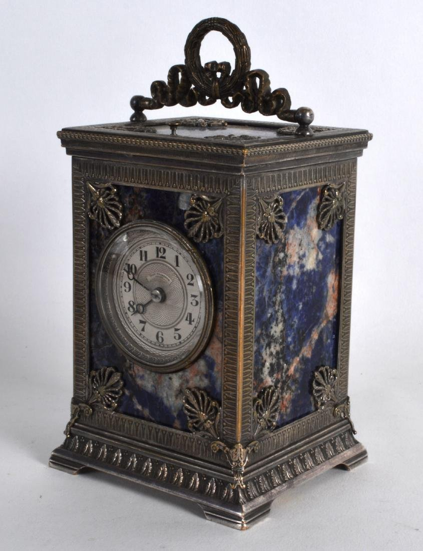 A FINE AND RARE 19TH CENTURY SILVERED BRONZE AND