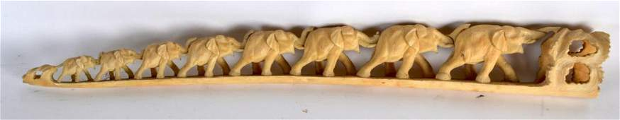 A LATE 19TH CENTURY JAPANESE MEIJI PERIOD CARVED IVORY