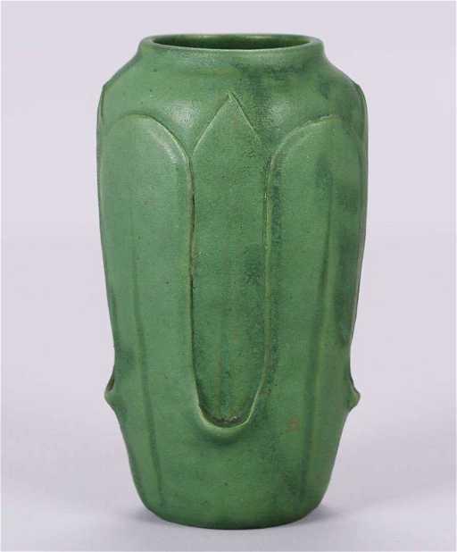 Wheatley Pottery Matte Green Vase