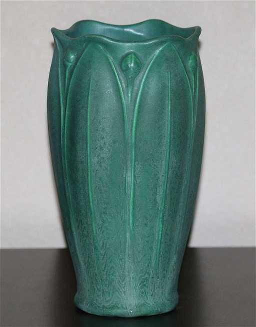 Weller Pottery Matte Green Vase
