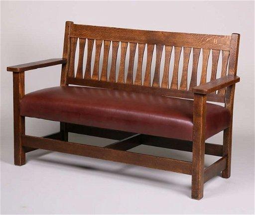 Admirable Small Mission Oak Bench Settle C1910 Beatyapartments Chair Design Images Beatyapartmentscom