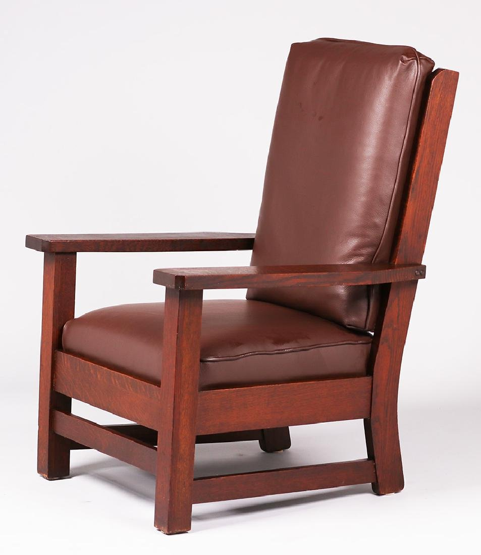 Early Limbert heavy armchair c1902-1905.