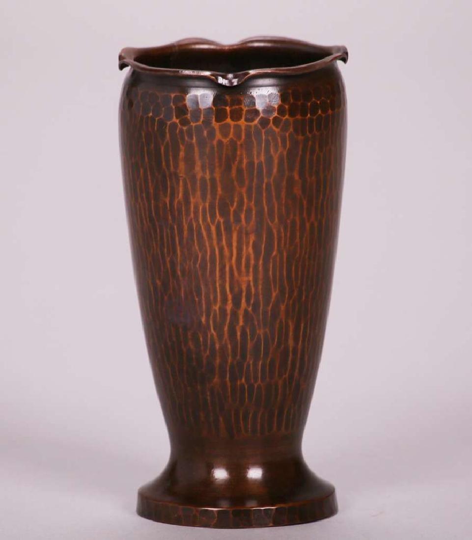 Roycroft hammered copper urn-shaped vase