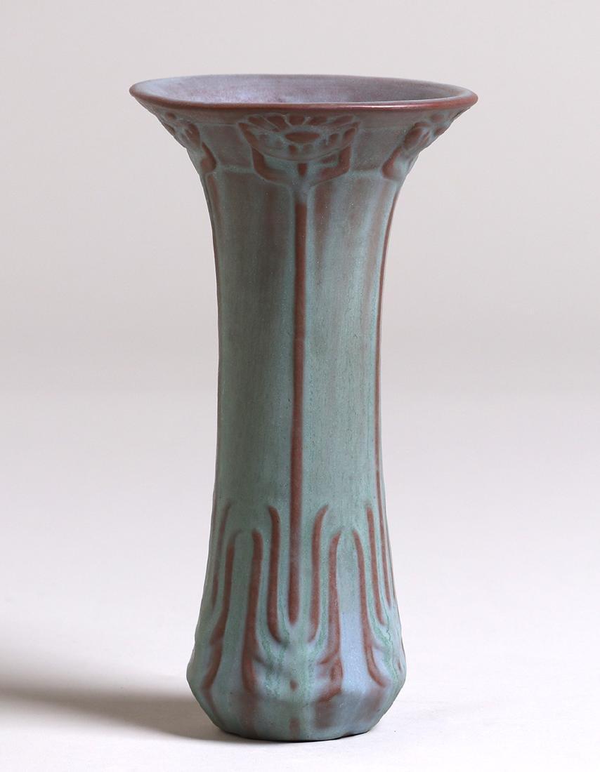 Early Van Briggle Flared Blue Vase