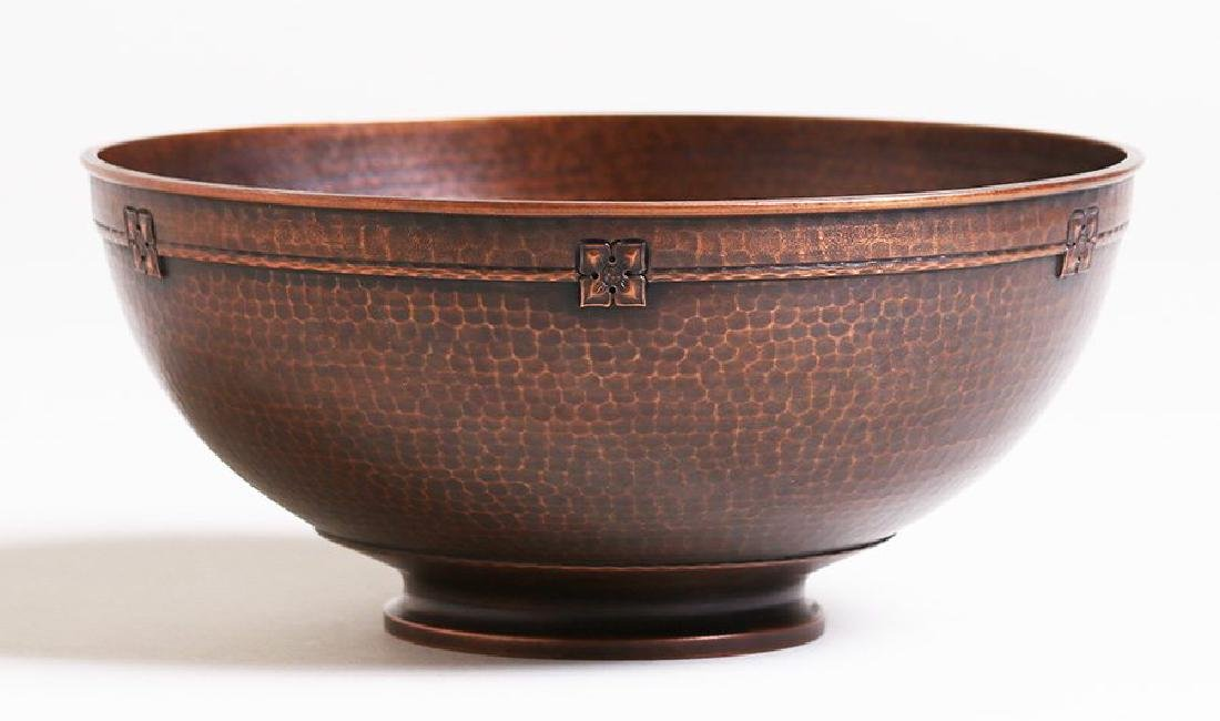 Roycroft Hammered Copper Fruit Bowl