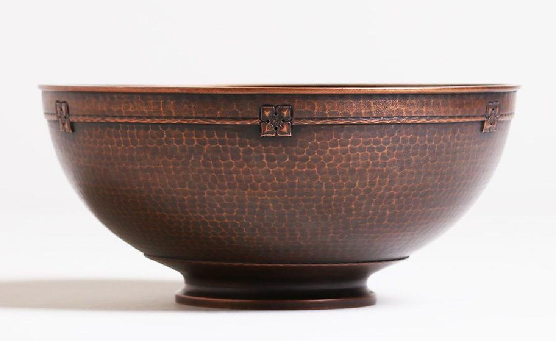 Roycroft Hammered Copper Fruit Bowl - 2