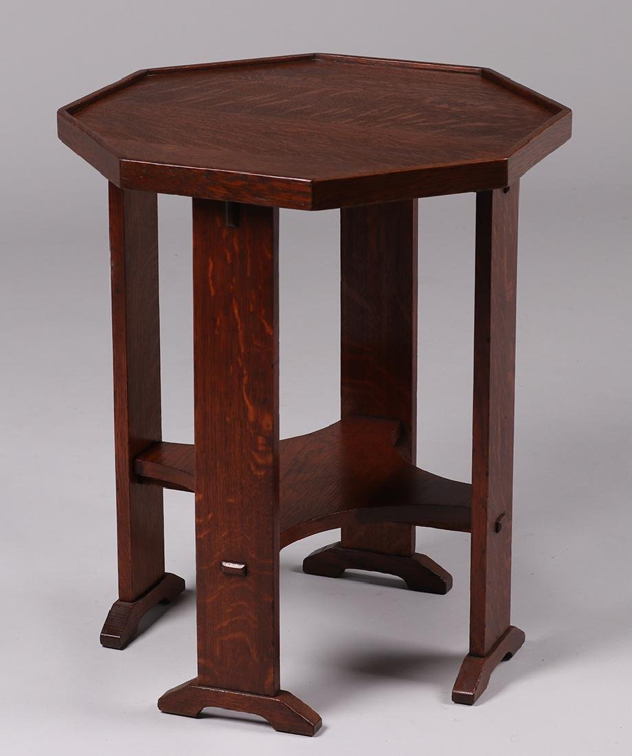 Rare L&JG Stickley Octagonal Side Table #515