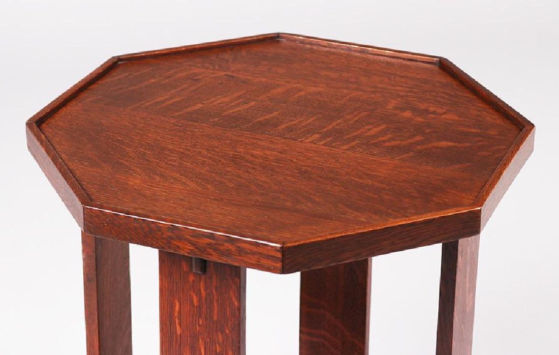 Rare L&JG Stickley Octagonal Side Table #515 - 2