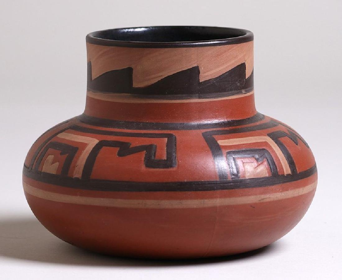 "Clifton Pottery Indian Ware vase entitled ""Homolobi"""