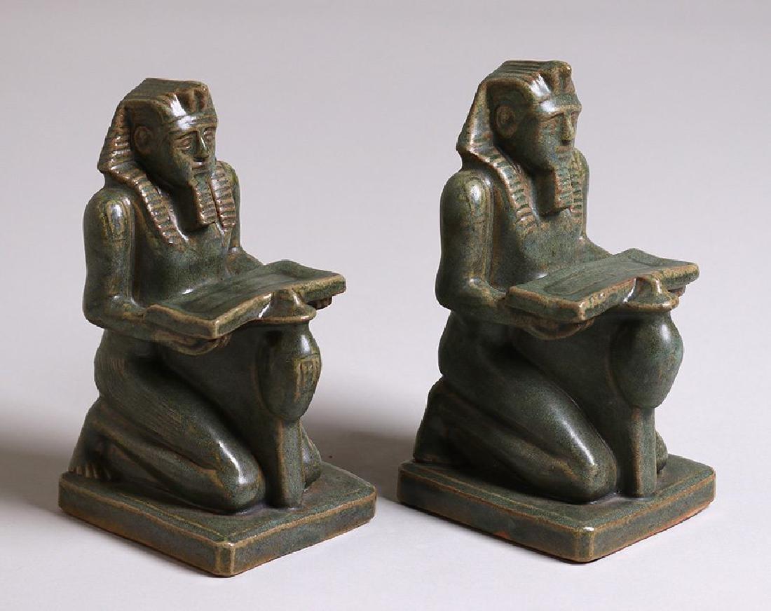 "Fulper Pottery ""Pharaoh"" Bookends"