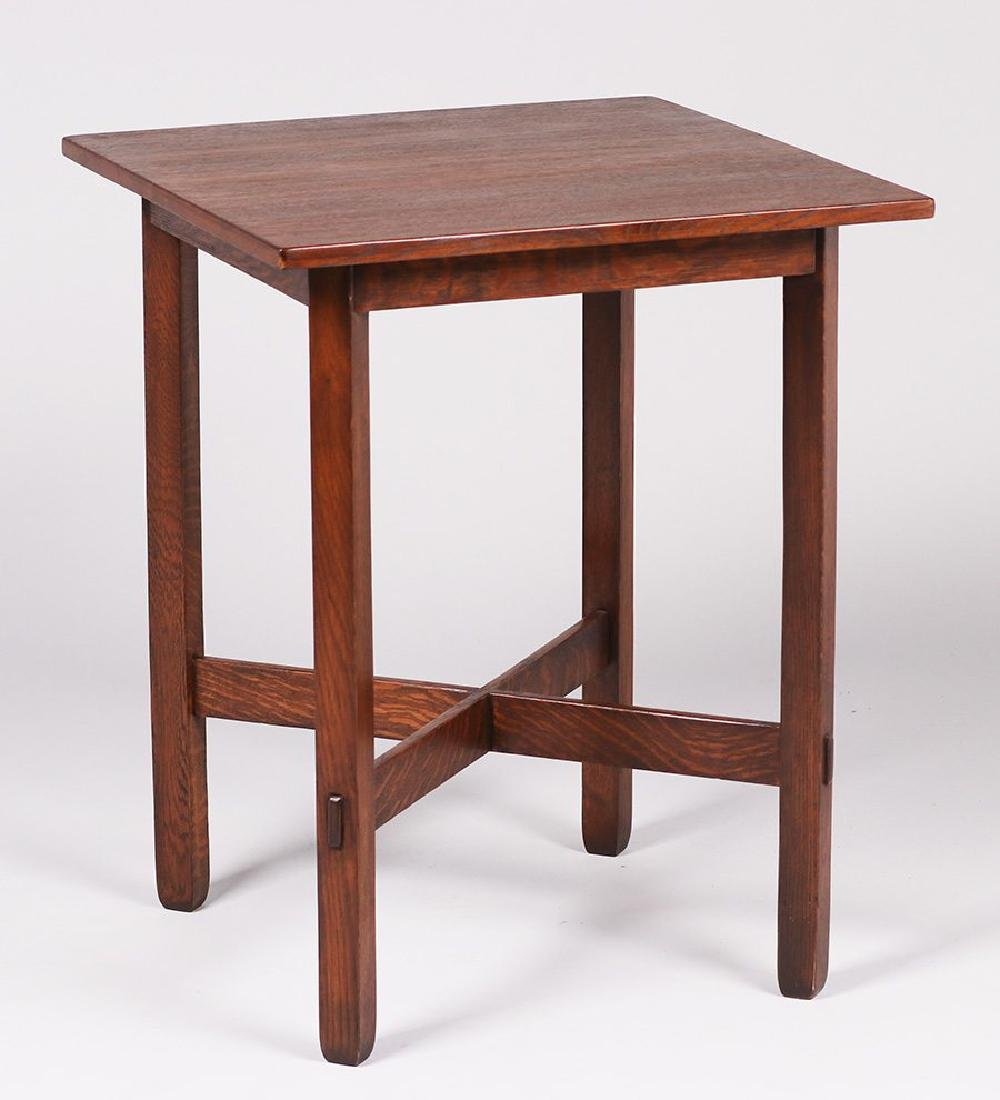 Stickley Brothers square lamp table c1910.