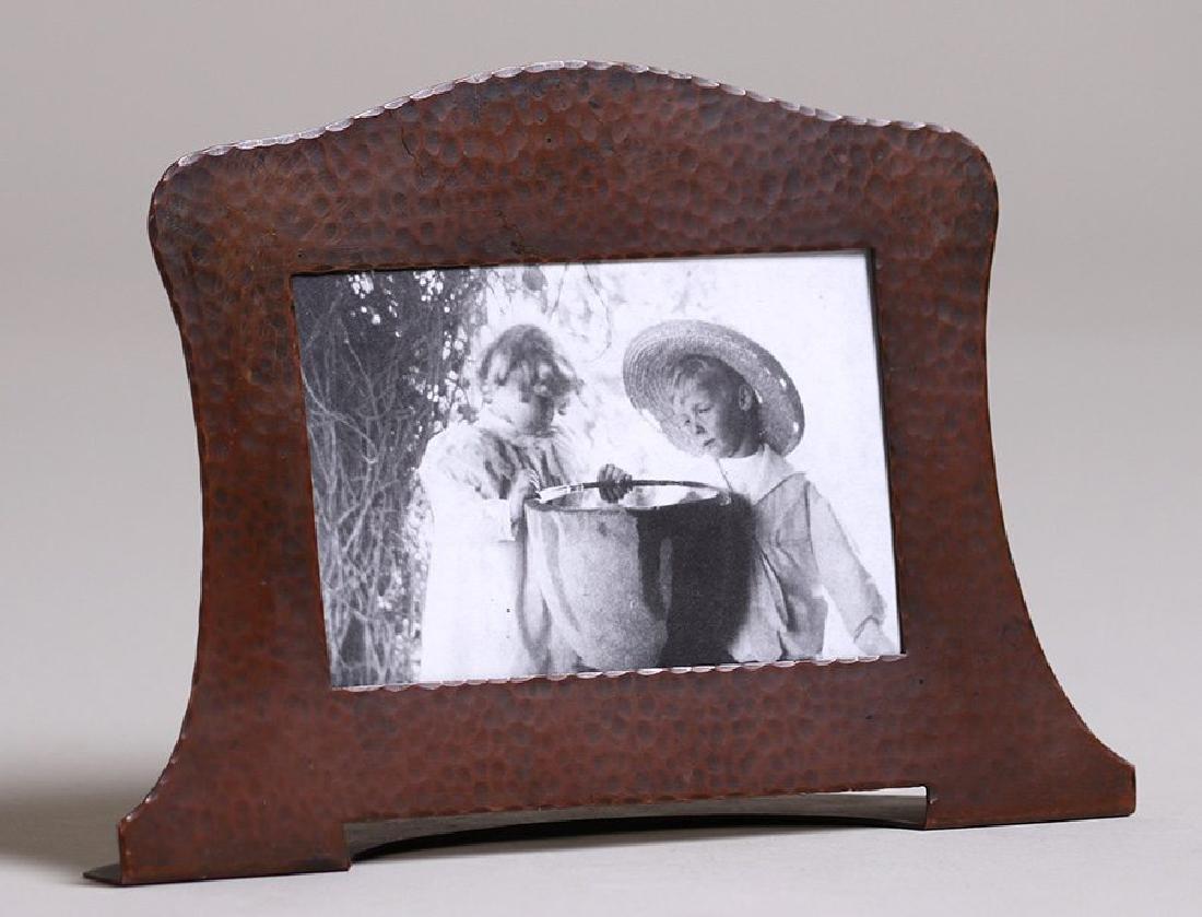 Gustav Stickley Hammered Copper Picture Frame