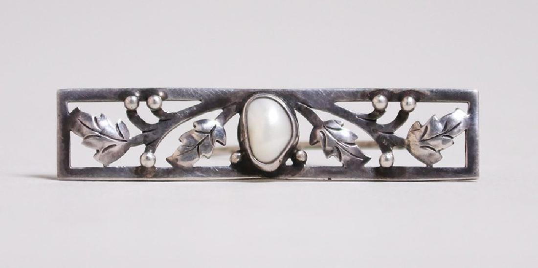 Chicago Arts & Crafts Sterling Silver Cutout Bar Pin