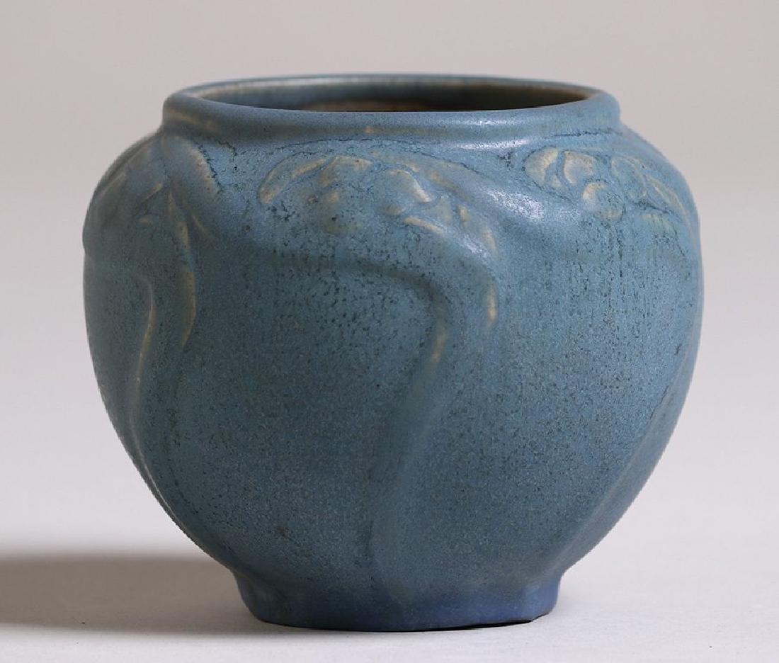Early Van Briggle #695 Dark Matte Blue Vase c1908-1911 - 2