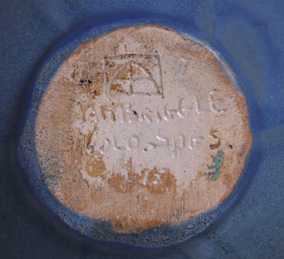 Early Van Briggle #695 Dark Matte Blue Vase c1908-1911 - 4