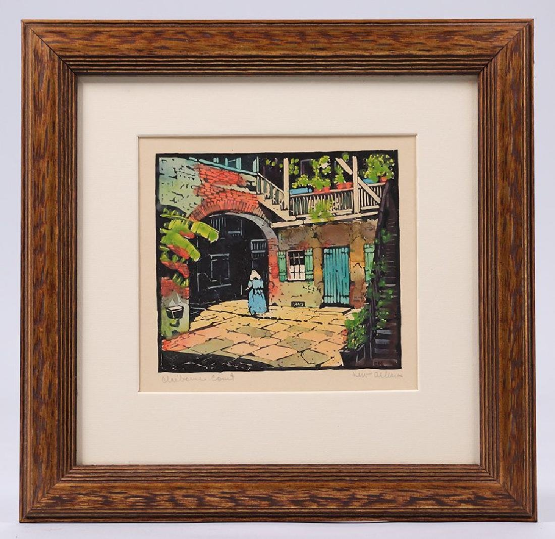Clarence Millet (1897-1959) Woodblock Print - 2