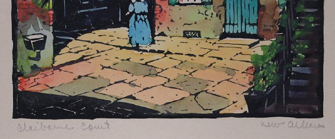 Clarence Millet (1897-1959) Woodblock Print - 3