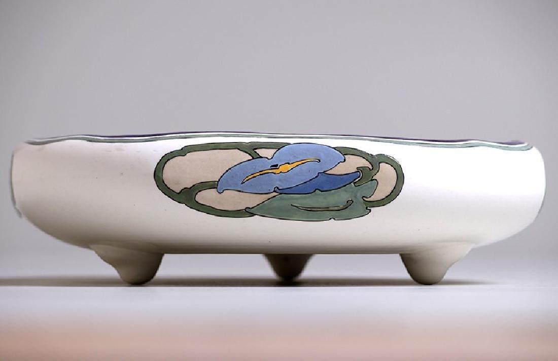 Arts & Crafts Hand-Painted Porcelain Fruit Bowl c1910