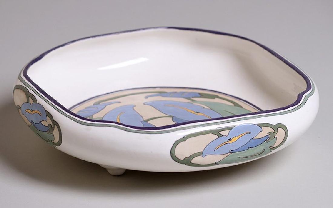 Arts & Crafts Hand-Painted Porcelain Fruit Bowl c1910 - 2