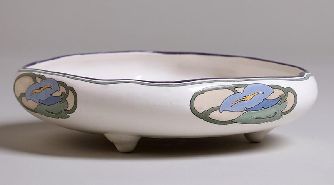 Arts & Crafts Hand-Painted Porcelain Fruit Bowl c1910 - 3