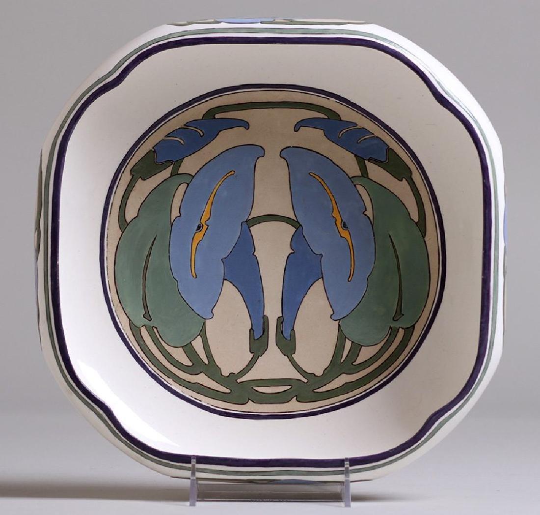 Arts & Crafts Hand-Painted Porcelain Fruit Bowl c1910 - 4