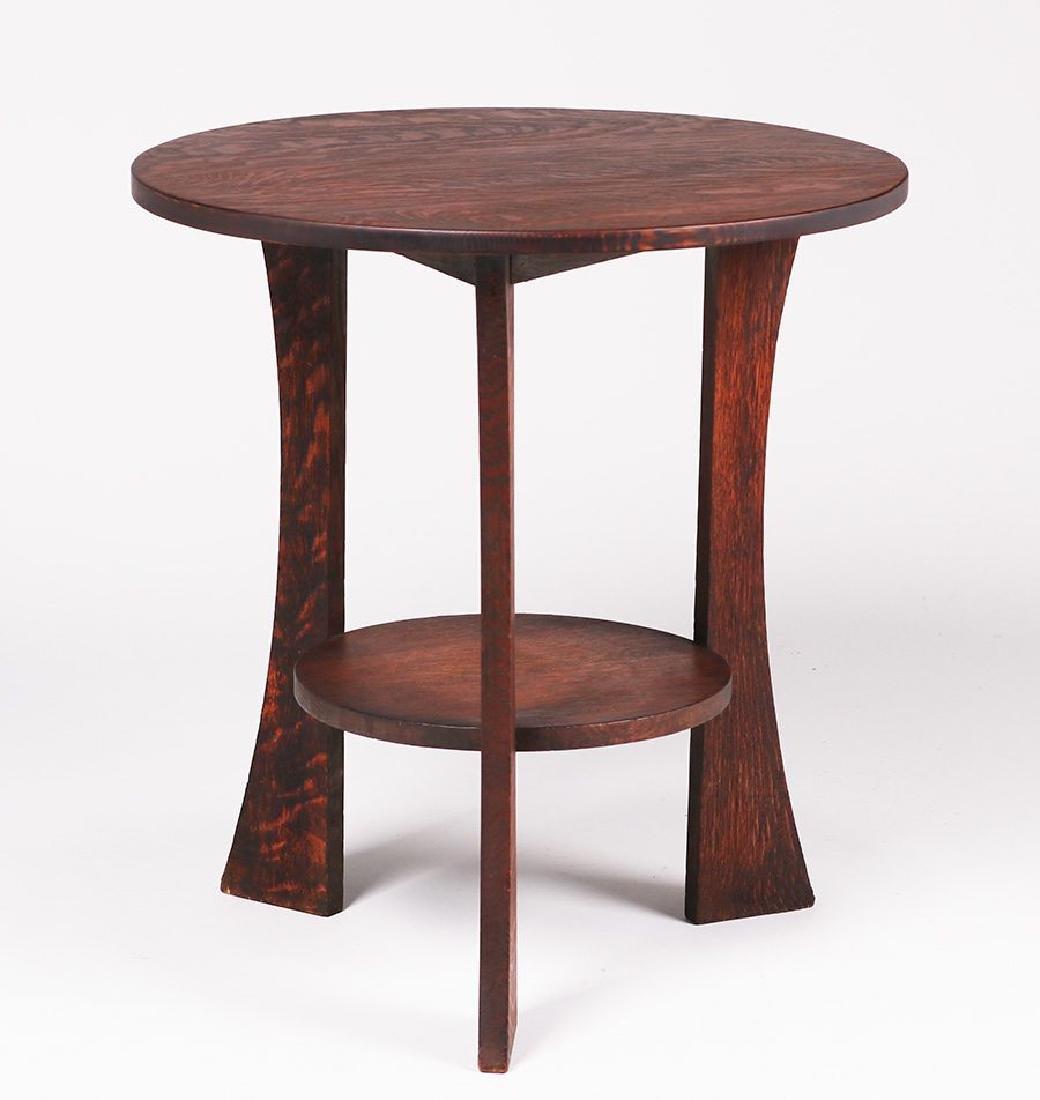 Grand Rapids three-leg lamp table c1905-1910.