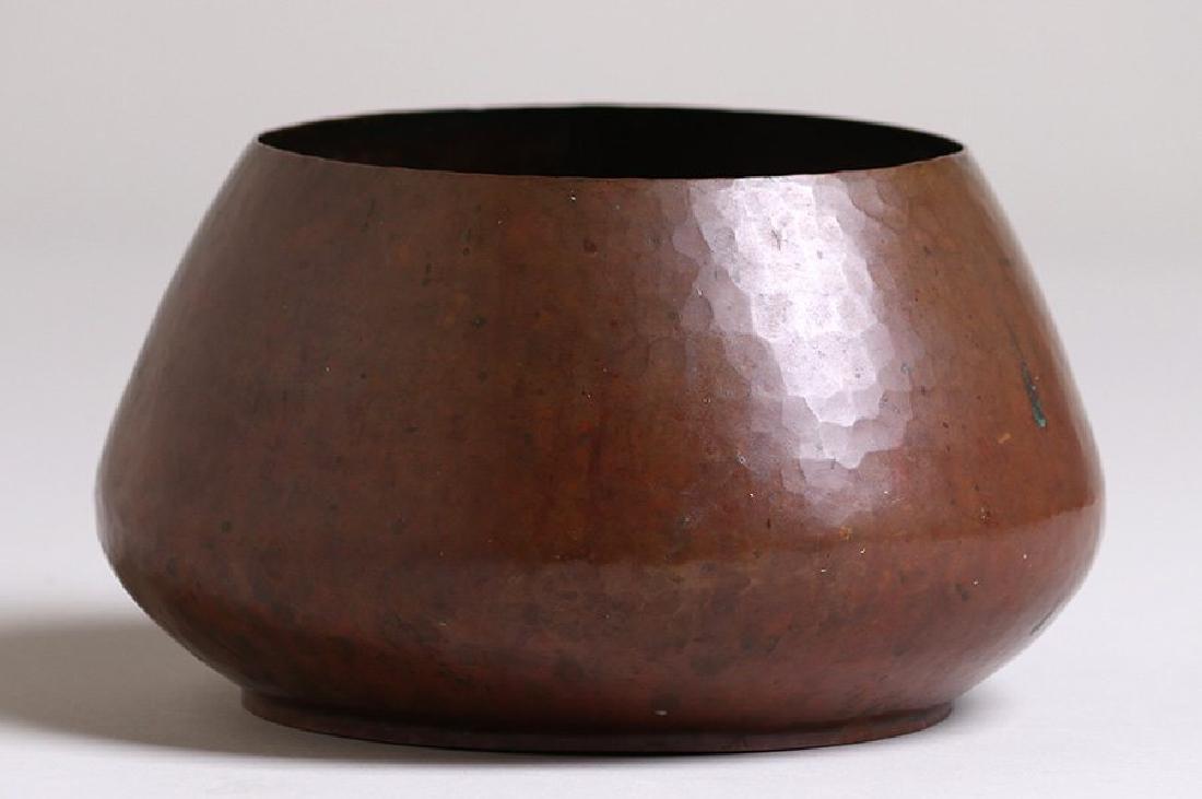 Dirk van Erp Hammered Copper Jardiniere c1908-1909