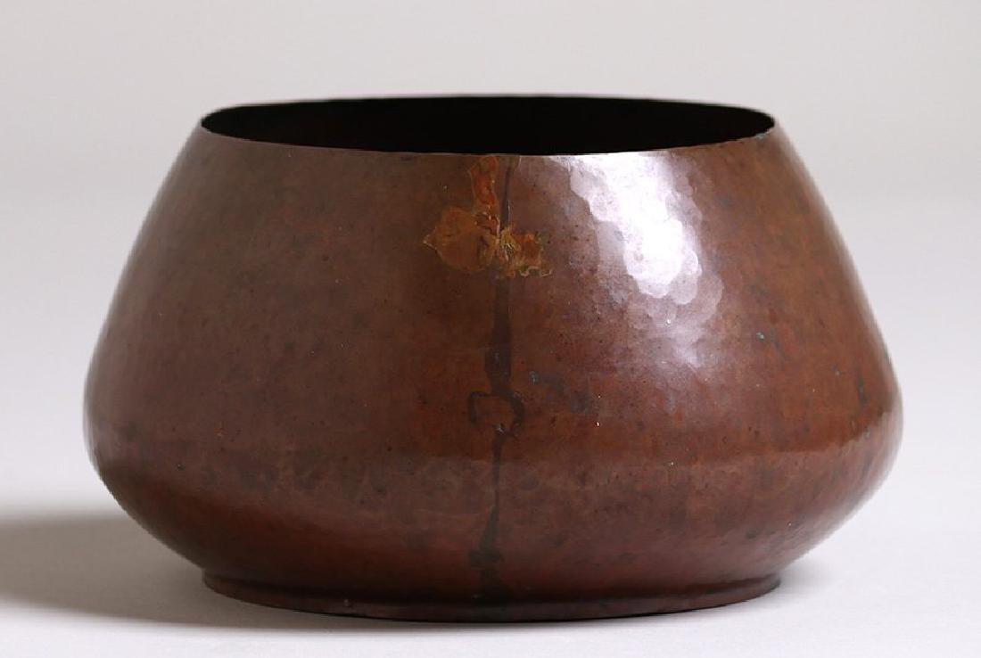 Dirk van Erp Hammered Copper Jardiniere c1908-1909 - 2