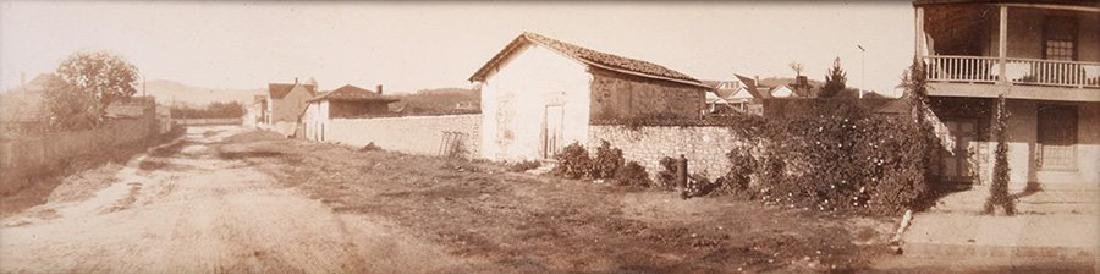 Old photo of Sherman Quarters next to Jacob Leese House