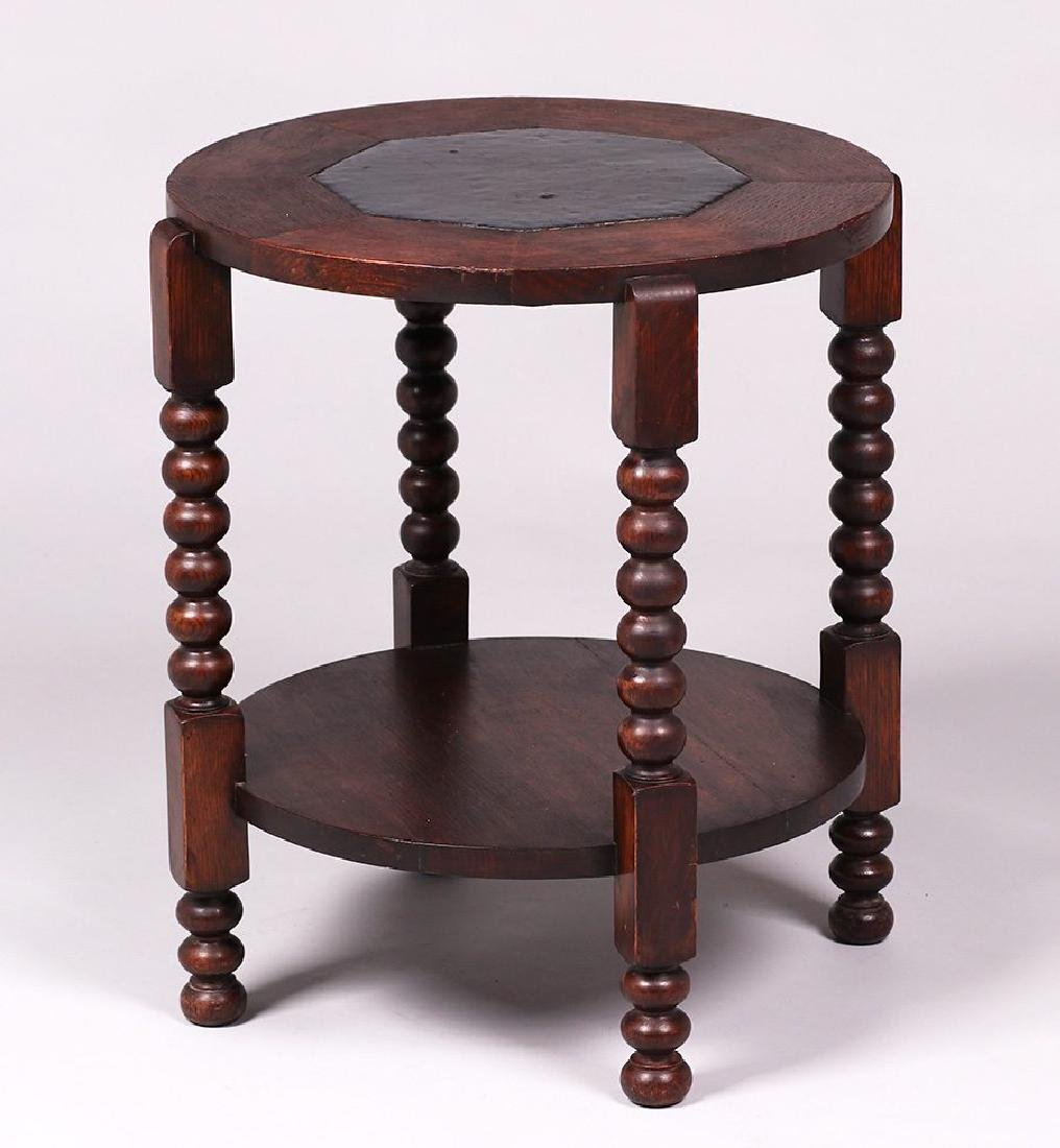 Gustav Stickley c1900 Grueby tile-top table #20