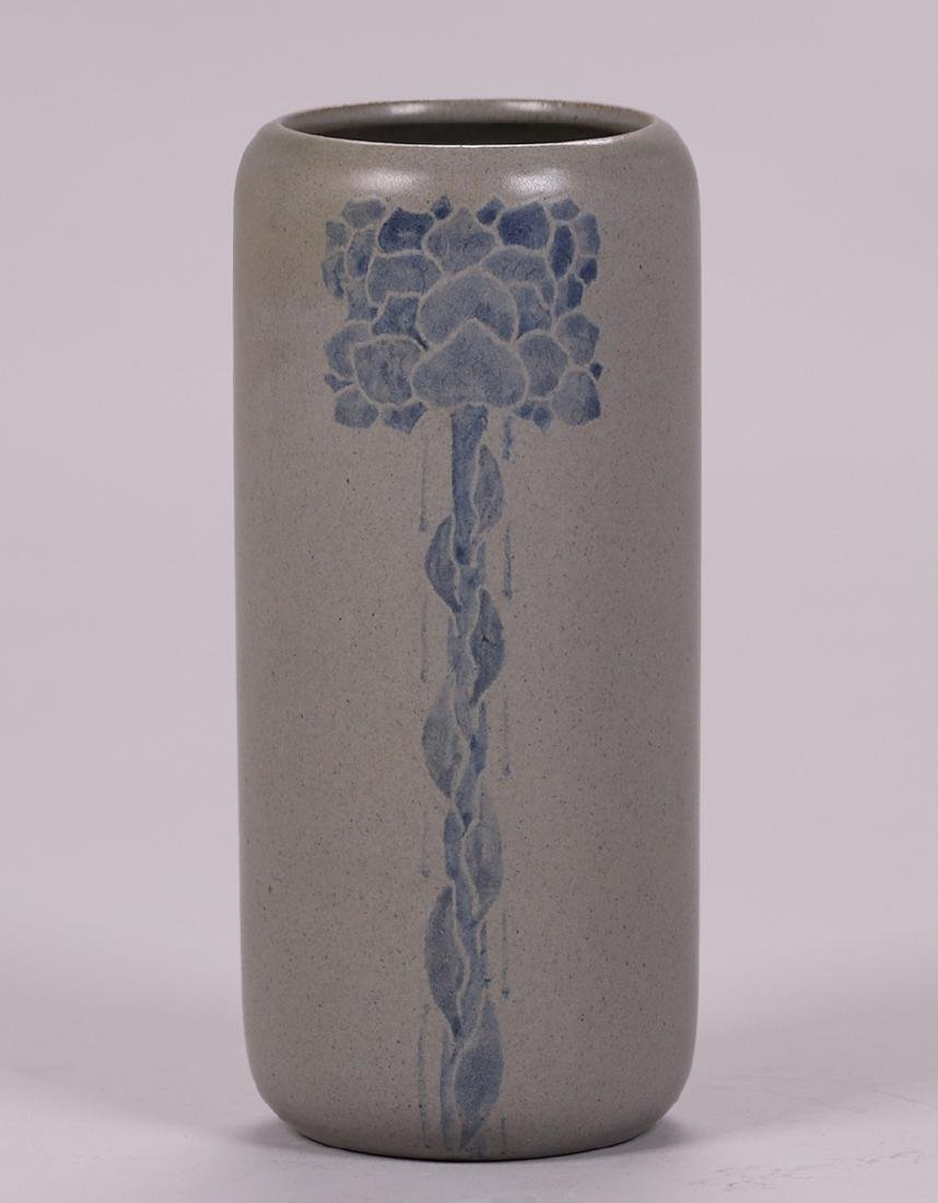 Marblehead Pottery cylindrical vase signed and